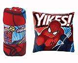 Spiderman Couverture Polaire et Coussin Double Face