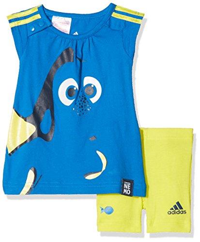adidas Kinder Trainingsanzug INF DYQ Dory SS Blau/Gelb, 98 (Findet Nemo Shirt Kleinkind)