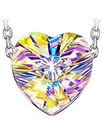 J NINA Aurora 925 Argento Sterling Collana Pendente da Donna realizzato con cristalli Swarovski