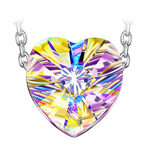 J nina aurora 925 sterling argento collana donne con cristalli da swarovski ciondolo gioielli regalo donne compleanno san valentino festadellamamma regali natale anniversario regali per fidanzata