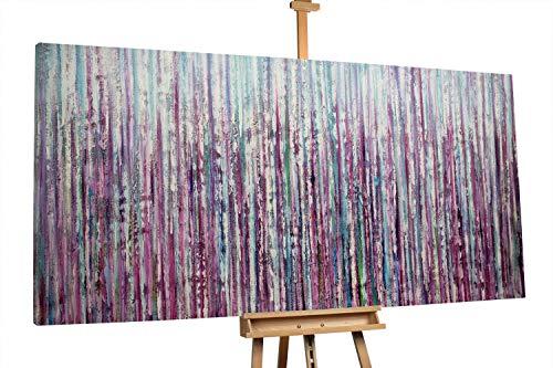 'Curtain Falls' 200x100cm | Abstrakt Lila Blau | Modernes Kunst Ölbild