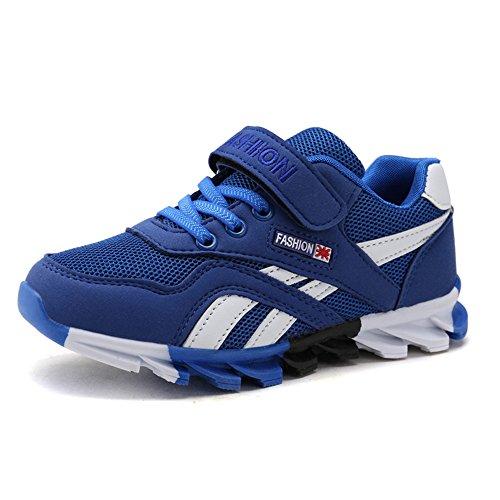DUORO Kinder Sportschuhe Sneaker Jungen Mädchen Outdoor Atmungsaktive Turnschuhe Running Schuhe Straßenlaufschuhe (33, Blau)