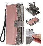 Handy hülle Tasche Leder Flip Case Brieftasche Etui Schutzhülle für Apple iPhone X XS/XR/XS MAX/5G 5S ES/6G 6s/6 Plus/7G 8G /7Plus /8Plus hülle,6 Farben