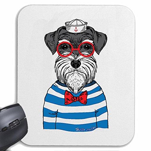 Reifen-Markt Mousepad (Mauspad) LUSTIGER MALTESER Cairn Terrier ALS MATROSE MIT Brille HAUSHUND West Highland White Terrier WELPEN Hunderasse für ihren Laptop, Notebook oder Internet PC (mit Windows