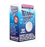 Retainer Cleaning Tablets 3-Month Supply 96 Tablets Removes Stain, Plaque & Bad Odor from Dentures, Night Guard, Mouth Guard & Removable Dental Appliances