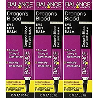 THREE PACKS of Balance Active Formula Dragons Blood Eye Lift Balm 15ml