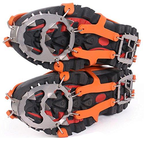Space Climber Steigeisen Power & Qualität Schuh Spikes Schuhkrallen mit 18 Edelstahl Zähne Anti Rutsch für High Altitude Bodenhaftung auf Eis und Schnee Wandern