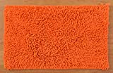 Raya Home 2 Piece Cotton Bath Mat - 40 cm x 60 cm x 1 cm, Orange