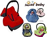Sweet Baby - MULTI SOFT Einschlagdecke HERBST / WINTER ** 3 UND 5 Punkt GurtSystem ** Universal für Babyschale, Autokindersitz, z.B. für Maxi-Cosi, Römer, für Kinderwagen, Buggy oder Babybett -- GRAU / ROT --