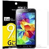 NEW'C Panzerglas Schutzfolie für Samsung Galaxy S5 Mini, Frei von Kratzern Fingabdrücken und Öl, 9H Härte, HD Displayschutzfolie, 0.33mm Ultra-klar, DisplayschutzfoliekompatibelSamsung S5 Mini