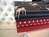 Lottashaus Jersey no110 Stoffpaket 4 Stück 50x70cm Lila