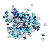 D DOLITY Glitzer Konfetii Tischkonfetti Streudeko Streuartikel für Jede Anlässe, aus Mettalic - Blau+Silber 18 - 4