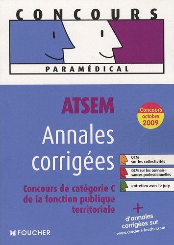 ATSEM, Annales corrigées : Concours de catégorie C de la fonction publique territoriale