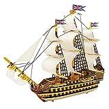 ROBOTIME Modello 3D di legno per Costruire un Puzzle Giocattolo Barca a Vela di Legno per i Ragazzi della Vittoria