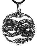 Kiss of Leather Schlangen Anhänger aus 925 Sterling Silber mit Baumwollband