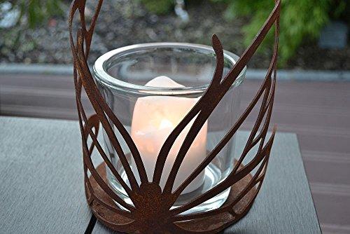 Photophore papillon verre bougie rouille patine Décoration de table Fête des Mères cadeau