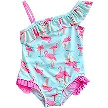 Changhants neonate costume da bagno in un unico pezzo con Pink Flamingos  modello 1-14 7d328ce2e9a