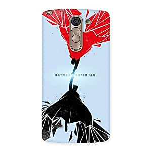 Enticing Day Vs Knight Punch Multicolor Back Case Cover for LG G3 Stylus