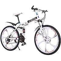 Altruism Bicicleta de montaña Plegable de 26 Pulgadas, 21 velocidades, Bicicleta para Hombre con