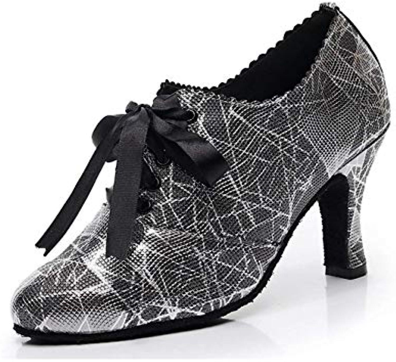 ZHRUI Ladies Ribbon Ribbon Ribbon Floral Closed Toe Nero Ballroom Latin Dance scarpe Pompe per Party serali UK 4.5 (Coloreee  ... | Reputazione a lungo termine  | Maschio/Ragazze Scarpa  4919b6
