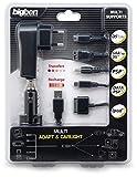 Multiformat KFZ & AC/USB-Adapter (NDS Lite, NDSi, PSP, iPod) - farblich sortiert