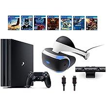 PlayStation VR Bundle 10 Items:VR Headset,Playstation Camera,PS4 Pro 1TB,7 VR Game Disc Until Dawn: Rush of Blood,EVE: Valkyrie, Battlezone,Batman: Arkham VR,DriveClub,Combat Le(Version US, Importée)