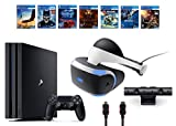 PlayStation VR Bundle 10 Items:VR Headset,Playstation Camera,PS4 Pro 1TB,7 VR Game Disc Until Dawn: Rush of Blood,EVE: Valkyrie, Battlezone,Batman: Arkham VR,DriveClub,Combat L(US-Version, Importiertes)