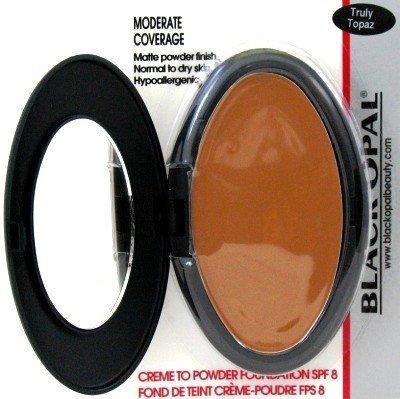 Black Opal Crème To Powder Foundation Truly Topaz (Lot de 3) with free Nail File (visage poudre)