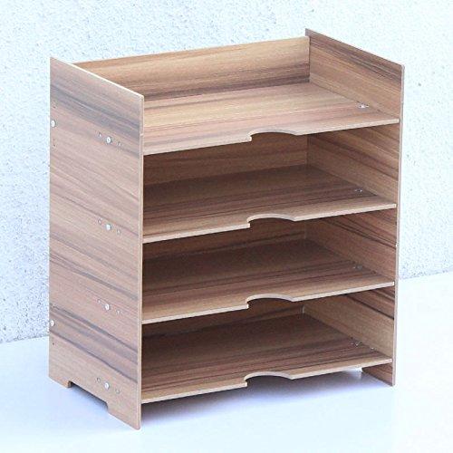peicher-Regal-Büro-Karten-Karten-Regal-Finisher-Aufbewahrungsbehälter,Frucht-Holz,24 * 15 * 27cm (Index-karte Speicher)