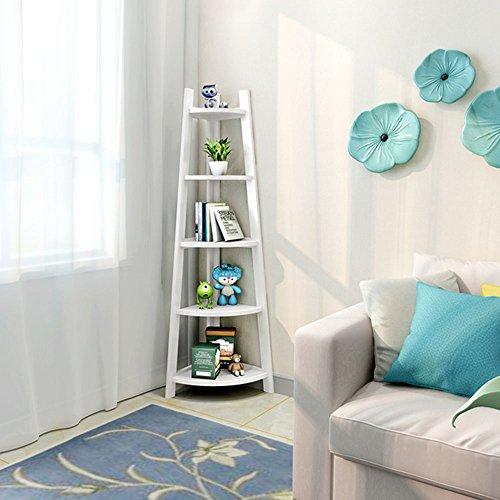 Zhangrong- scaffale clapboard scaffale creativo mobili angolo mensole angolari (colore : bianca)