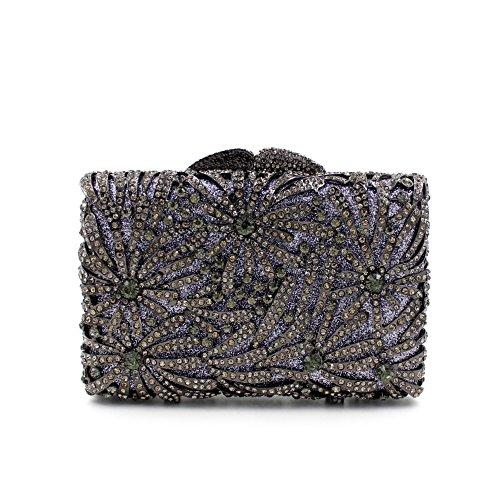 Damen-Abendessen Set Strass Diamanten und Diamanten High-End-Diamant-Wallet Glänzende Handtasche Bankett Black