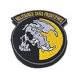 kingnew metal Gear Solid Cosplay parche Militaires Sans Frontier bordado Patch de color rojo