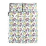 Ikea Malin RUND 3Queen Knopfverschluß, Bettbezug 100Prozent Baumwolle