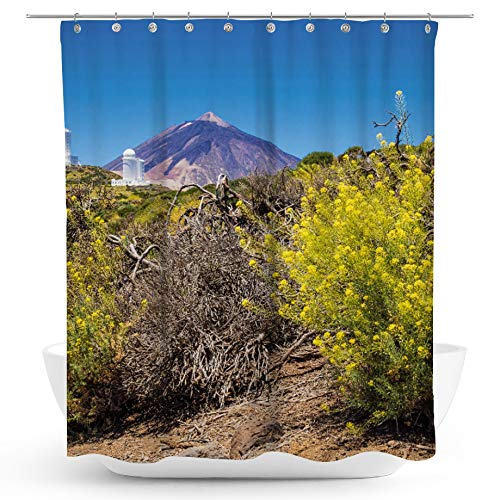 fotobar!style Duschvorhang 175 x 200 cm Vulkan Teide auf Teneriffa (Home-observatorium)
