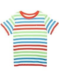 ESPRIT - Camiseta a rayas de manga corta para niño