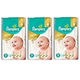 Pampers Premium Care Midi 3 Gr. 4-9 Kg Sparpack 180 Windeln in 3 Packungen
