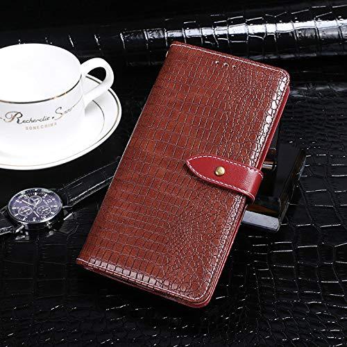 BELLA BEAR Case für Leagoo Z7,Leder Brieftasche Geldbörse Halterung Funktion Weichem PU Material Phone Case Cover for Leagoo Z7 Hülle(Jujube Rot)