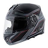 Torque T27b Blinc Bluetooth intégré Full Face casque de moto avec lame Graphic, plat Noir, taille XS