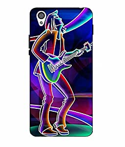 Case Cover Guitar Printed Multicolor Hard Back Cover For One Plus X