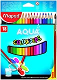 Maped M836012 - Buntstifte Color Peps Aquarelle, 18er Packung