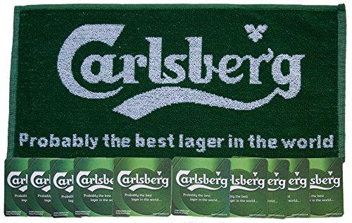 carlsberg-lager-pub-bar-towel-10-beer-mats-coasters