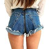 Skinny Jeans per Donna, Eleganti Slim Fit Comode Elastico Pantaloni A Vita Alta Cerniera Matita Pantaloni Lunghi in Denim Streetwear