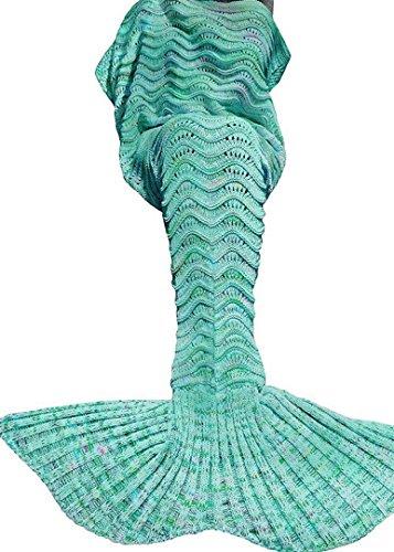 Umeicool Ondulado Ola Sirena Cola Manta Croché Suave