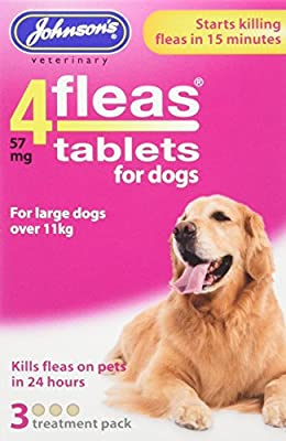 Johnsons Veterinary Products 19-0295 Tablets for Dogs Treatment, Large, Set of 3 from Sealey