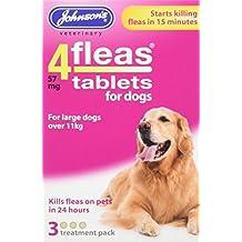 Johnsons 4fleas Protector contra pulgas para perro o cachorro, 3 Meses protección contra pulgas