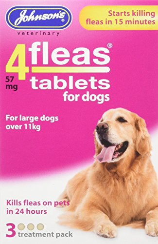 Johnsons 4fleas Protector contra pulgas para perro o cachorro, 3Meses protección contra...