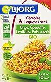 Bjorg Céréales et légumes secs Orge Epeautre Lentilles Pois Cassés Bio 330 g