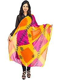 Lionize Women's Chiffon Dupatta With Warli Print