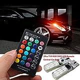 AimdonR Wasserdichtes Auto-Seitenlicht 6SMD 5050 RGB 7 LED Strobe-Blitzlampe mit Fernbedienung