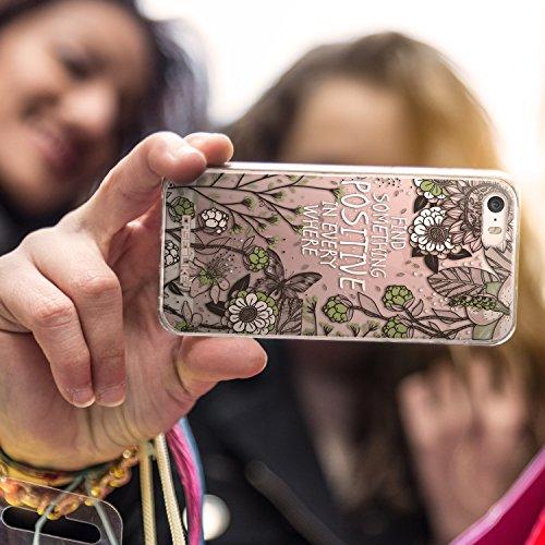 CASEiLIKE Comic Beschriftung Rosa 2912 Ultra Slim Back Hart Plastik Stoßstange Hülle Cover for Apple iPhone SE +Folie Displayschutzfolie +Eingabestift Touchstift (Zufällige Farbe) 2250